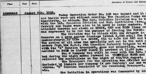 Operation War Diary