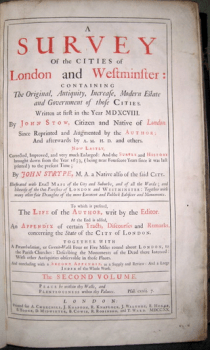 John Strype's Survey of London 1720