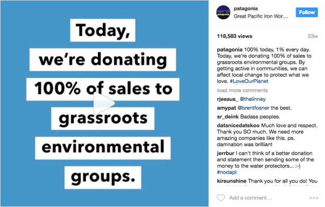 100% of Black Friday Sales go to grassroots Environmental Groups