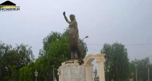 تخريب-تمثال-الملكة-ذايا-بـ-باغاي