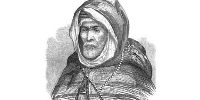 صورة شخصية لسي صادق أولحاج حسب رسم لـ م. فرو (M. Feraud)، نشرت في جريدة Illustration سنة 1859