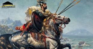 لوحة الفارس النوميدي للفنان زيّاني حسين