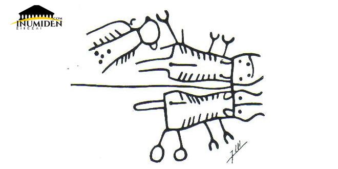 مشهد حرث , ثورين ورائهما فلّاح , نقش صخري بموقع أعزيب ن-إكّيس بالمغرب