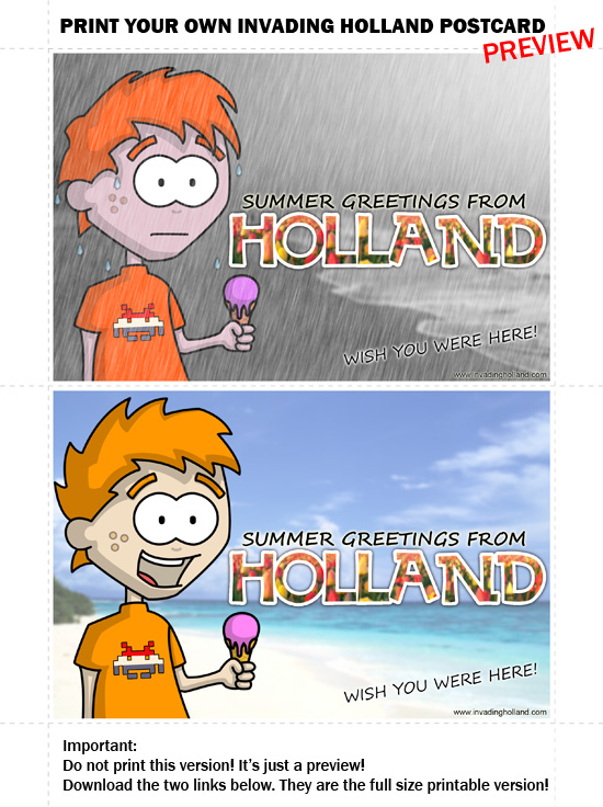 Free Holland Postcard