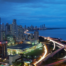 Panama city at night.