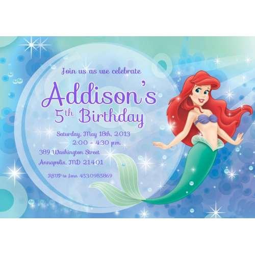 Medium Crop Of Mermaid Birthday Invitations