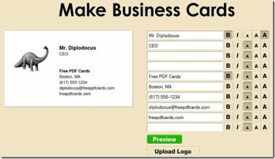 Make Free Business Cards