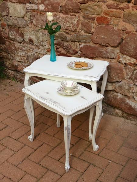 Shabby Chic Nesting Tables ~ Shabby chic nesting tables ioana stoian