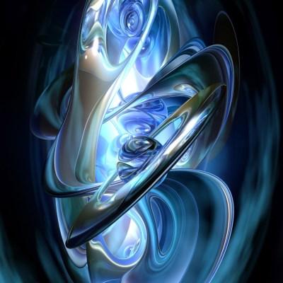 Blue Swirl iPad Wallpaper, Background and Theme