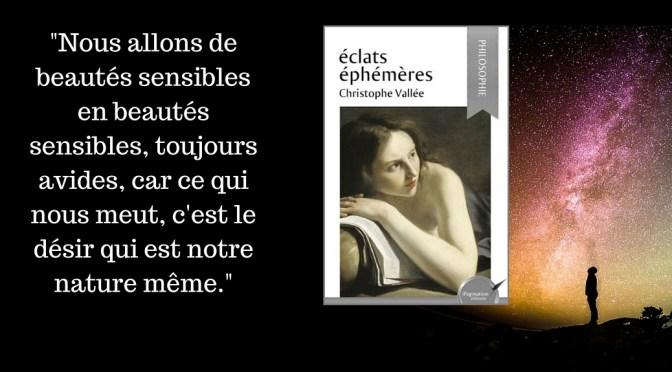 Philosophie : découvrez «Éclats éphémères «, de Christophe Vallée