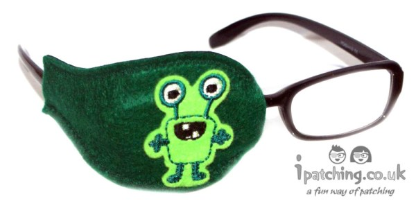 Alien_On_Dark_Green_Plastic_Frame_Orthoptic_Eye_Patch