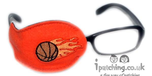 Basketball_on_Orrange_Plastic_Frame_Orthoptic_Eye_Patch