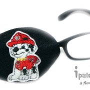 Marshall from Paw Patrol Design on a Black Patch
