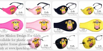 minion Girl orthoptic eye patches