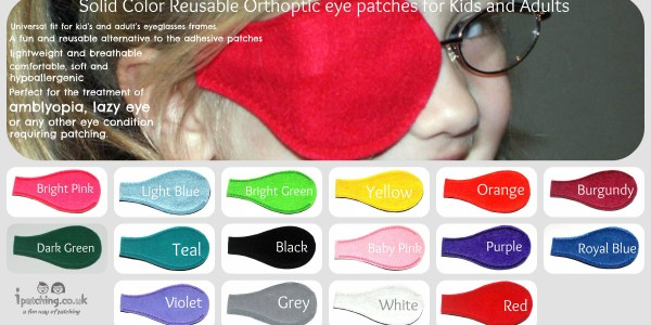 solid color eye patch