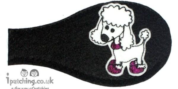 Pudel dog eye patch