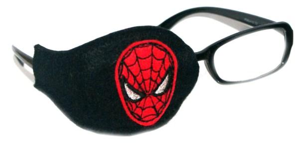 Spider_Man_On_Black_Plastic_Frame_Orthoptic_Eye_Patch