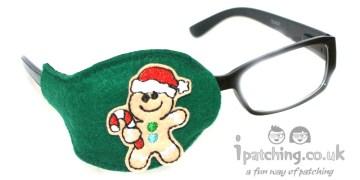 Gingerbread Man Orthoptic Eye Patch
