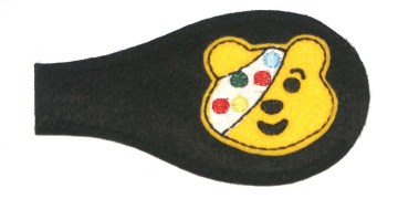 Pudsey teddy bear eye patch