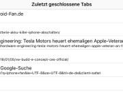 Zuletzt geschlossene Webseiten wieder finden in Safari