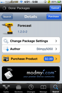 forecast 200x300 Add Forecast To Lockscreen; ForeCast Cydia Tweak