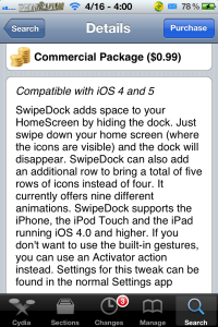 swipedockdesription 200x300 Remove Dock With Animation; SwipeDock Cydia Tweak