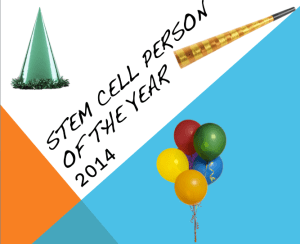stem cell person of the year 2014
