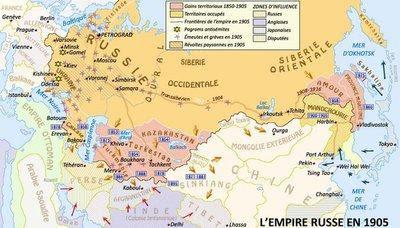 Η Ρωσική αυτοκρατορία το 1905