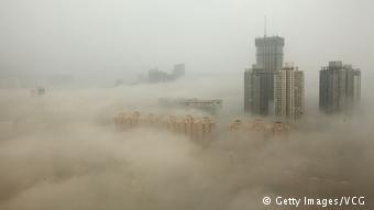 Ατμοσφαιρική ρύπανση στην κινεζική πόλη Λιανγιουγκάνγκ