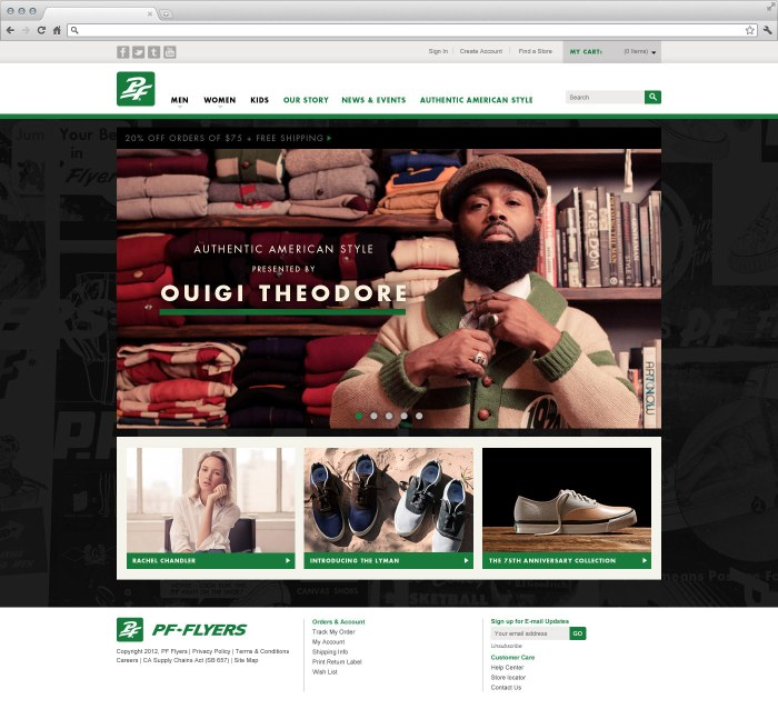 PF Flyers Homepage