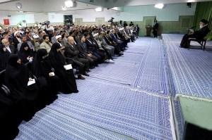 Ayatollah Khamenei in a meeting with members of Iran's Majlis on May 29,2013.