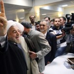 """Hassan Rohani: I've very motivated for candidacy. You should ask Hashemi Whether he will support me or not. I'm not aware of Hashemi's candidacy in the last days of the registration. My fans have chosen """"Purple"""" as the color for the election campaign."""