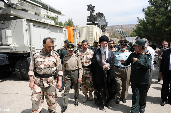Iran's Leader visiting latest achievements of Aerospace Force of the Islamic Republic Guardian Corps on May 11, 2014.