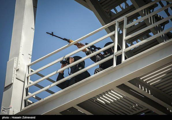 Iranian Security Forces targeting terrorists in the parliament.