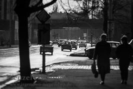 Verkehr auf der Halberstädter Straße   |  Magdeburg 1989