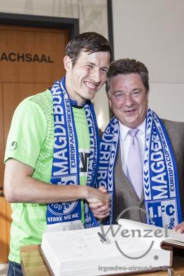 FCM feiert Aufstieg in die 3. Liga - Party Alter Markt Magdeburg