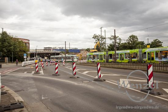 Baustelle City-Tunnel Magdeburg –  vom 17. Juli bis 23. Juli wird auch der Bus- und Straßenbahnverkehr der Magdeburger Verkehrsbetriebe eingestellt.