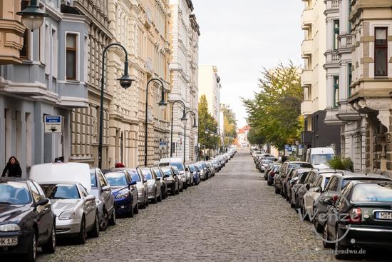 Magdeburg im Herbst - Leibnizstraße
