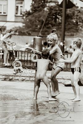 Kinderspielplatz Hegelstraße –  Sommer 1988