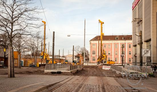 Baustelle City-Tunnel Magdeburg – Februar 2016