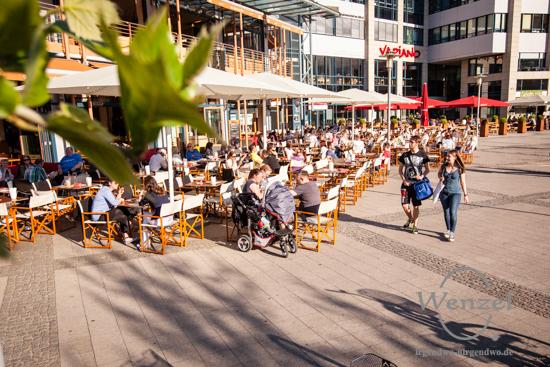 Magdeburg sonnt sich –  zwischen ALEX und Schweizer Milchkuranstalt
