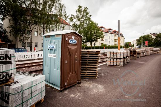 Umgeschaut auf der Baustelle Wiener Straße