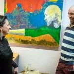Gemälde von Männern im Frauenzentrum Volksbad Buckau