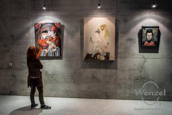 "Vernissage ""Brücken Fremder Flüsse"" - HERBSTSALON 2018 –  Foto Wenzel-Oschington.de"