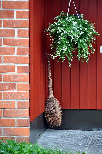 Broom At Front Door