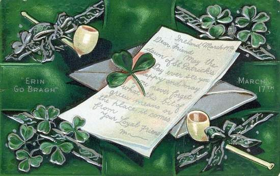 Vintage Irish Card - A Letter from Ireland