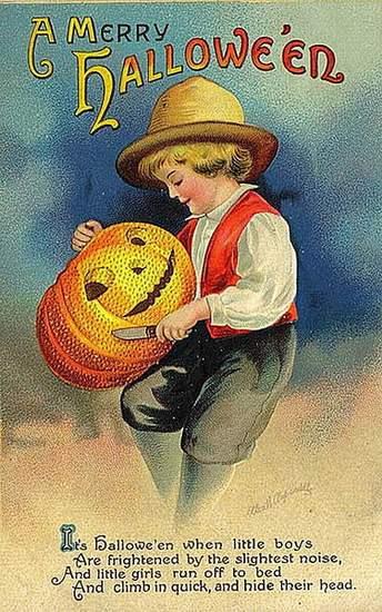 Pumpkin Carving vintage image