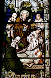 Stained Glass Window In St. Patrick's Cathedral, Armagh