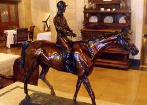 Horse And Jockey Carving - Brown Hotel Louisville