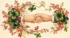 Vintage St. Patrick's Day Illustration - Hand Shake
